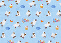 Watercolor seamless pattern handmade Royalty Free Stock Image