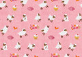 Watercolor seamless pattern handmade Stock Image