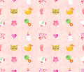 Watercolor seamless pattern handmade Stock Photo