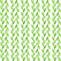 Watercolor seamless pattern simple spring hand drawn background green leafs and branches eps vector Stock Photos