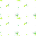 Watercolor seamless pattern simple spring hand drawn background green leafs and branches eps vector Stock Image