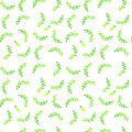 Watercolor seamless pattern. Simple spring hand drawn background. Green leafs and branches. EPS Vector