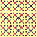 Watercolor seamless pattern on yellow background