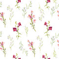 Watercolor Snapdragons Pattern