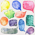 Watercolor speech bubbles this is file of eps format Royalty Free Stock Image