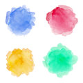 Watercolor Spots Set On A Whit...