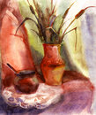 Watercolor still life Royalty Free Stock Photos