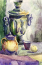 Watercolor still life Stock Photo