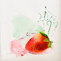 Watercolor strawberry Royalty Free Stock Photo