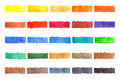 Watercolor stripe brush colorful rainbow palette spot background Royalty Free Stock Photo