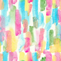 Watercolor stripes - colorful abstract seamless pattern