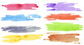 Watercolor strokes hand painted brush Royalty Free Stock Images