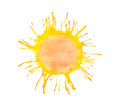 Watercolor sun Royalty Free Stock Photo