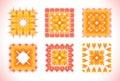 Watercolor sunny mandala. Element for design.
