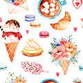 Watercolor sweets collection