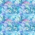 Watercolor turquoise cyan abstract seamless pattern texture background Royalty Free Stock Photo