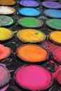 Watercolor used paint palette. Used palette can illustrate creative art work or any other concept. Royalty Free Stock Photo