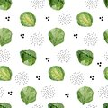 Watercolor сute seamless pattern vegeterian healthy food. Hand painted vegetable Brussels sprouts for kids.
