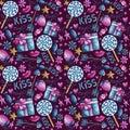 Watercolor Valentine pattern