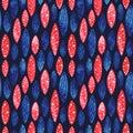 Watercolor vector geometrical seamless pattern