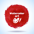 Watercolor vector handmade background hand drawn red for business presentation illustration Royalty Free Stock Images