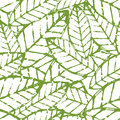 Watercolor vector leaf seamless pattern. Abstract grunge green a Royalty Free Stock Photo