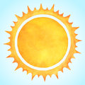 Watercolor vector sun with spiked crown Royalty Free Stock Photo