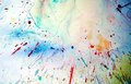 Watercolor vivid splashes and abstract background Royalty Free Stock Photo