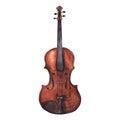 Watercolor wooden vintage violin fiddle musical instrument