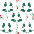 Watercolor x-mas pattern