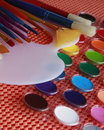 Watercolors, Brushes, Palette Royalty Free Stock Photo
