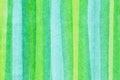 Watercolors horizontal green bands Royalty Free Stock Photo