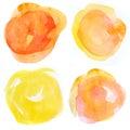 Watercolour Blots Of Paint