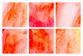 Watercolour pattern - Orange-red patterns Royalty Free Stock Photo
