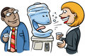 Watercooler Conversation Royalty Free Stock Photo