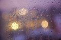 Waterdrops on a window Royalty Free Stock Photo