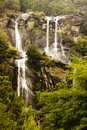 Waterfall acqua fraggia italy from the town of borgonuovo in north Royalty Free Stock Photo