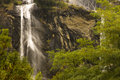 Waterfall acqua fraggia italy from the town of borgonuovo in north Stock Images