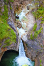 Waterfall in Alps Stock Photo