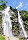 Waterfall in the alps Stock Photography