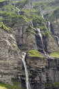 Waterfall the alps french montain haute savoie sixt fer à cheval france in summer vertical colour Stock Photography