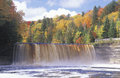 Waterfall in Autumn Royalty Free Stock Photo
