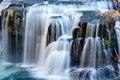 Waterfall At Autumn