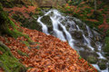 Waterfall during autumn beautiful picture was taken near teteven bulgaria the trail is suitable for tourism Royalty Free Stock Photography