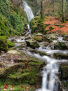 Waterfall during autumn beautiful picture was taken near teteven bulgaria the trail is suitable for tourism Royalty Free Stock Photos
