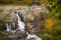 Waterfall and Autumn Colours Royalty Free Stock Photo