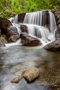 Waterfall during the autumn near queimadela dam in municipality of fafe portugal Royalty Free Stock Photos