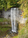 Waterfall in autumn ontario canada tew's falls Royalty Free Stock Images