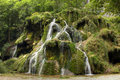 Waterfall at baume les messieurs jura france famous Stock Images