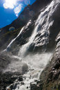Waterfall beautiful clean flowing in the mountains Stock Photography